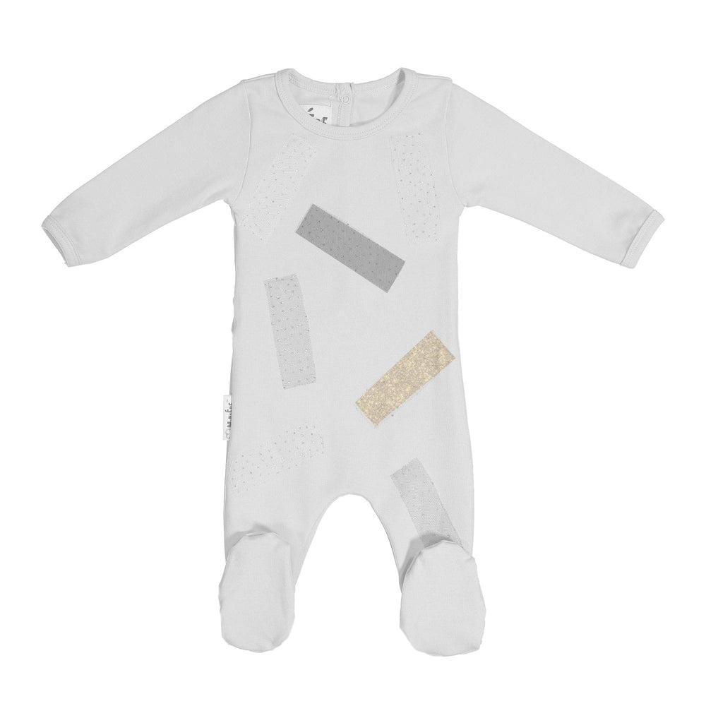 Load image into Gallery viewer, Tulle Patch Footie Maniere Accessories White 3 Month