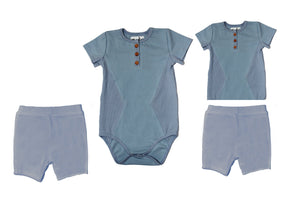 Two Piece Set Baby Sets Maniere Accessories Denim 3 Months