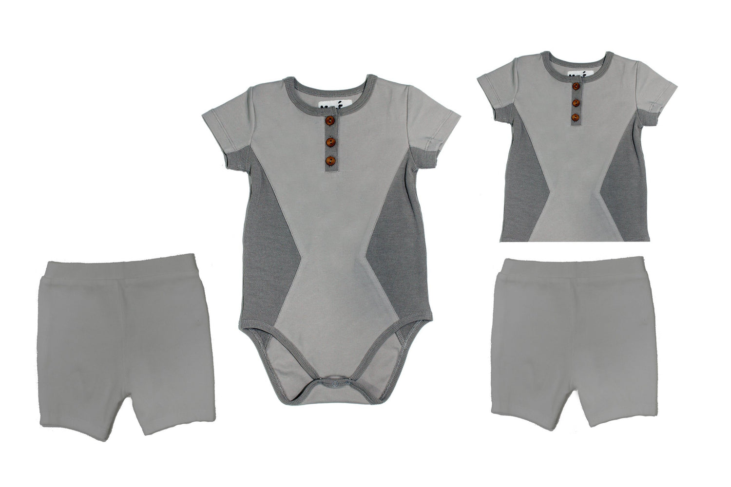 Two Piece Set Baby Sets Maniere Accessories Grey 3 Months