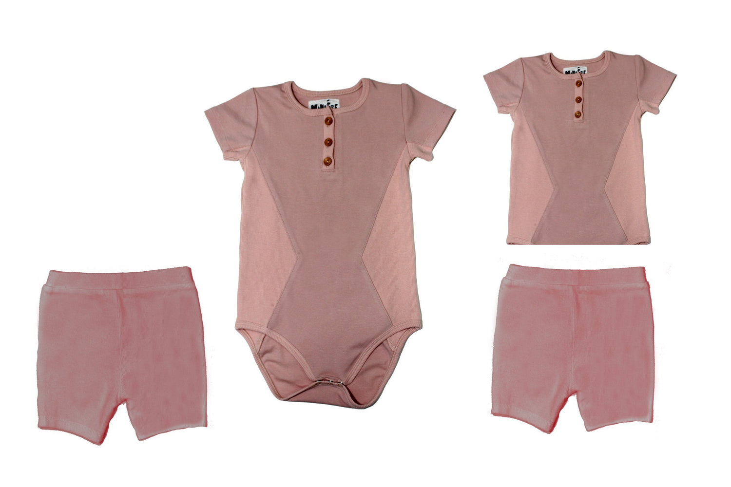 Two Piece Set Baby Sets Maniere Accessories Mauve 3 Months