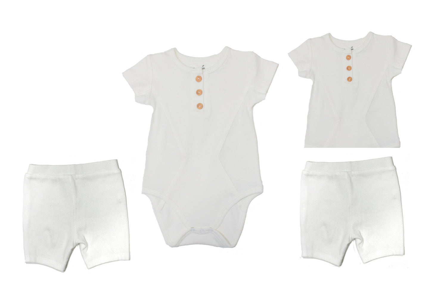Two Piece Set Baby Sets Maniere Accessories White 3 Months