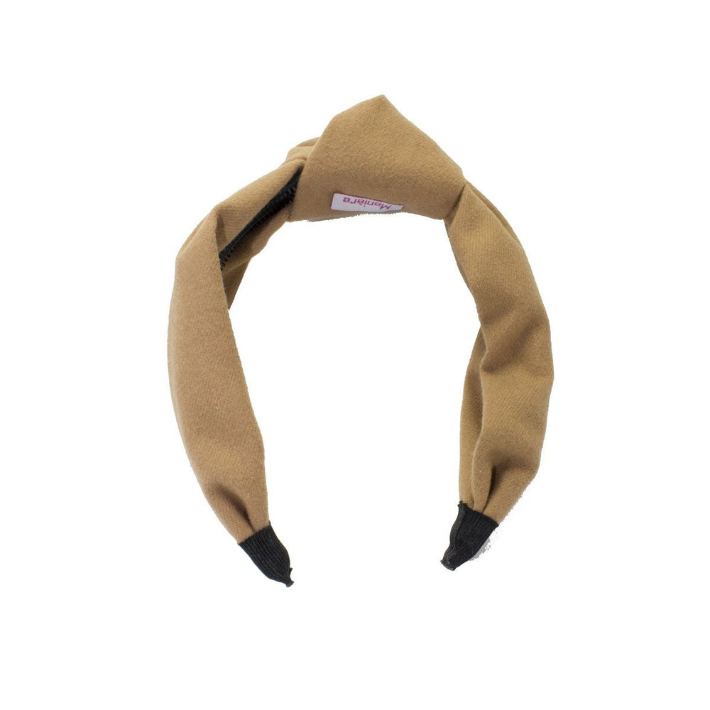 Load image into Gallery viewer, Wool Kay Knot Headband Headband Manière Camel