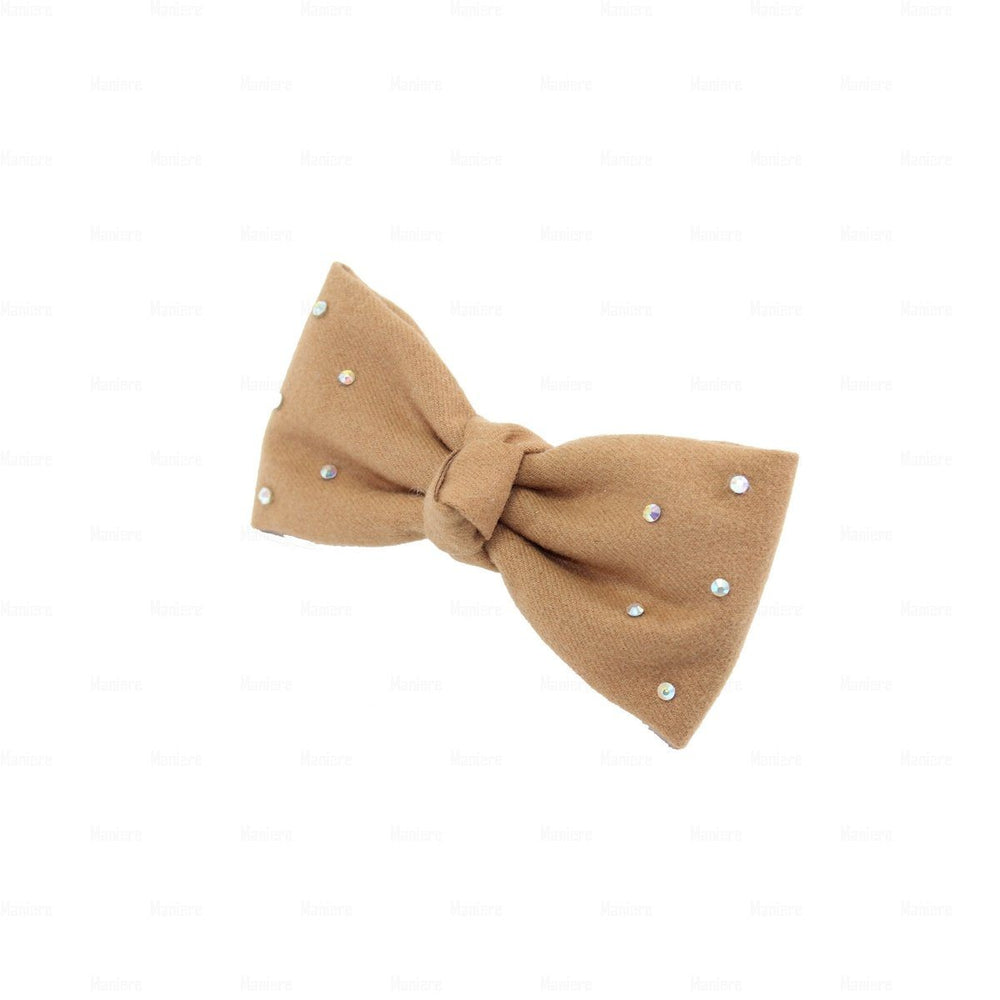 Wool Kay Knot Clip Hair Clip Manière Camel