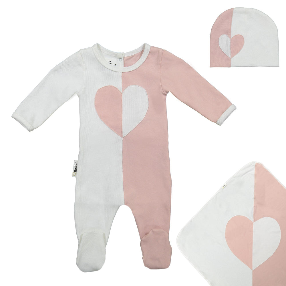 Whimsical Shape Footie Set Maniere Accessories Mauve 3 Month