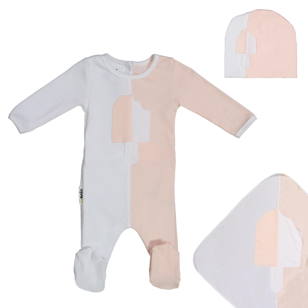 Whimsical Shape Footie Set Maniere Accessories Peach 3 Month