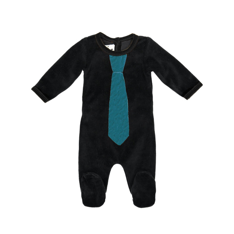 Whimsical Velour Footie 12m-18m