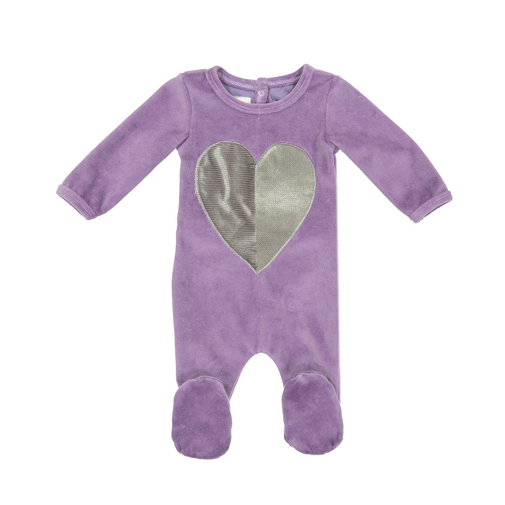 Whimiscal Velour Footie Maniere Accessories Purple 3 Months
