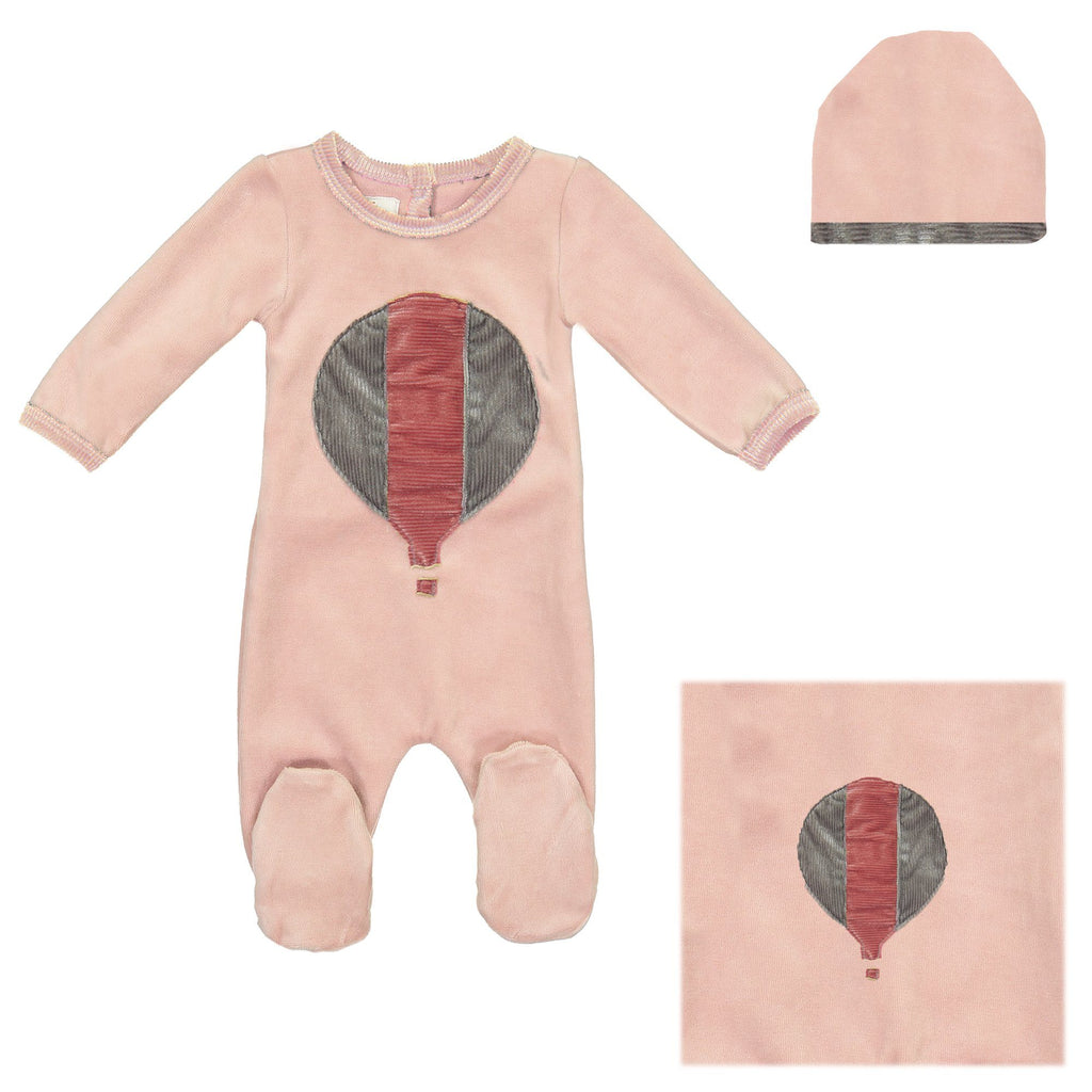 Whimiscal Velour Set Baby Sets Maniere Accessories Mauve 3 Months