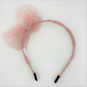 Load image into Gallery viewer, Metallic Bow Headband Headband Maniere Accessories Pink