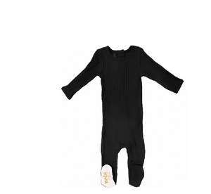 Ribbed Footie (winter colors) Baby Footies Maniere Accessories Black 3M