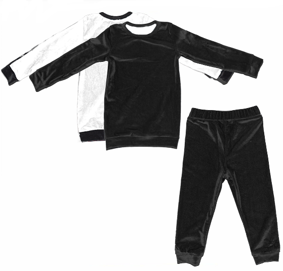 Load image into Gallery viewer, Velour Color Block Set Maniere Accessories Black/White 2T