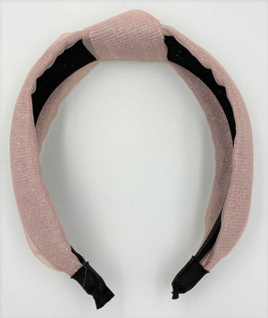 Load image into Gallery viewer, Tulle Kay Knot Headband Maniere Accessories Mauve