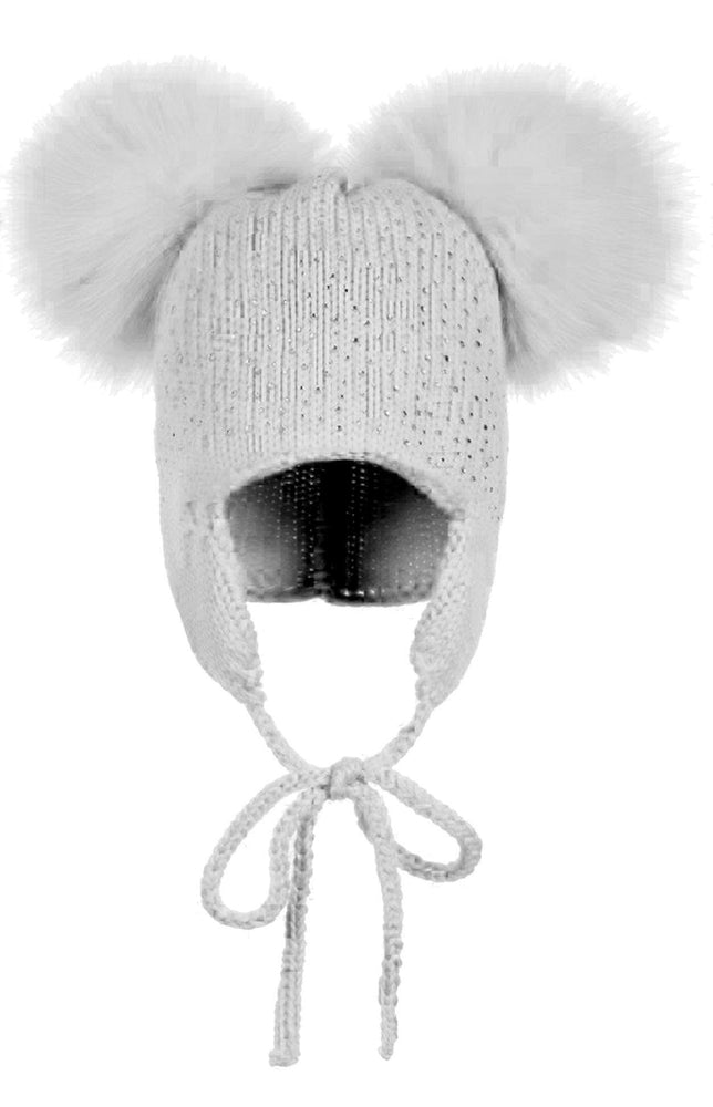 Load image into Gallery viewer, Sparkle Baby Tie Hat Maniere Accessories Dusty Grey