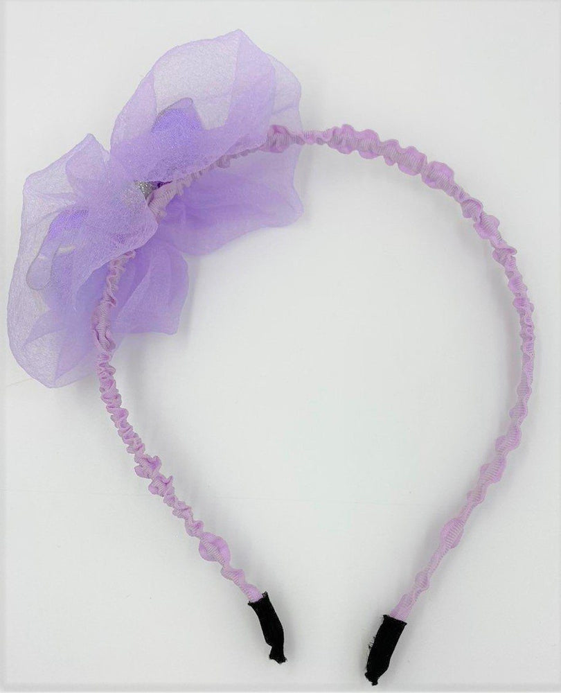 Metallic Bow Headband Headband Maniere Accessories Purple