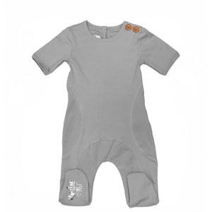 Button Detail Footie Baby Footies Maniere Accessories 3 Months Grey
