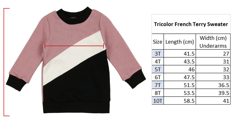 Tricolor French Terry Sweater