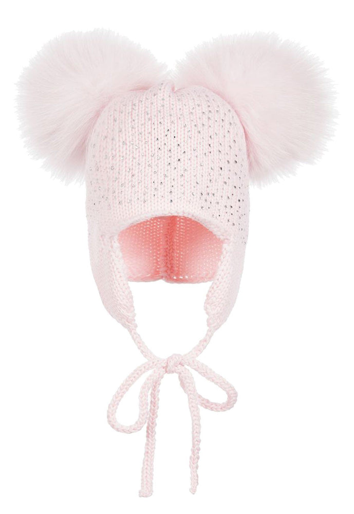 Load image into Gallery viewer, Sparkle Baby Tie Hat Maniere Accessories Light Pink