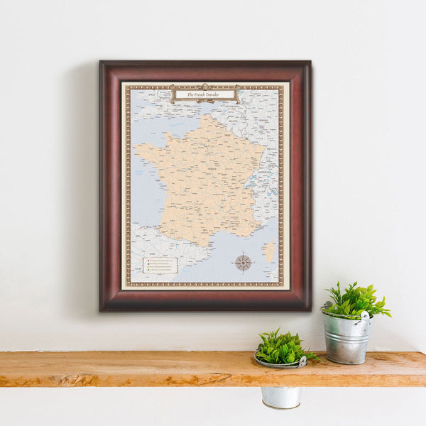 French Travel Quest Map