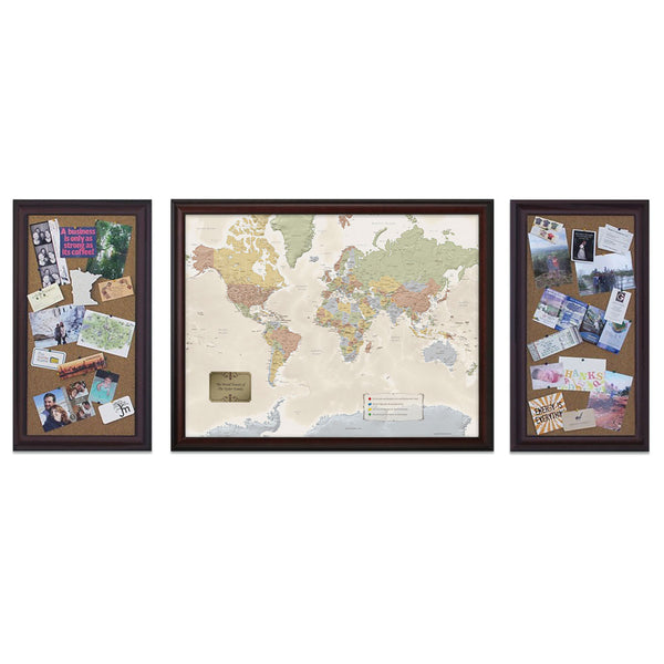Executive Travel Quest World Map Set