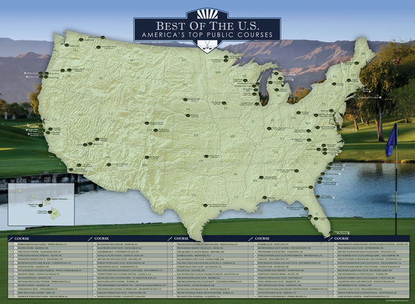Premier Golf Courses of the United States Travel Quest Poster