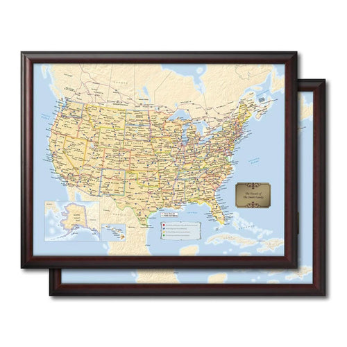 Two U.S. Travel Quest Maps Bundle