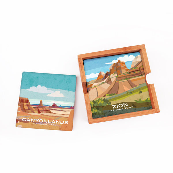 Utah National Parks Coaster Set
