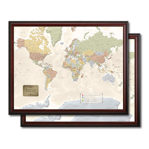 Two World Travel Quest Maps Bundle
