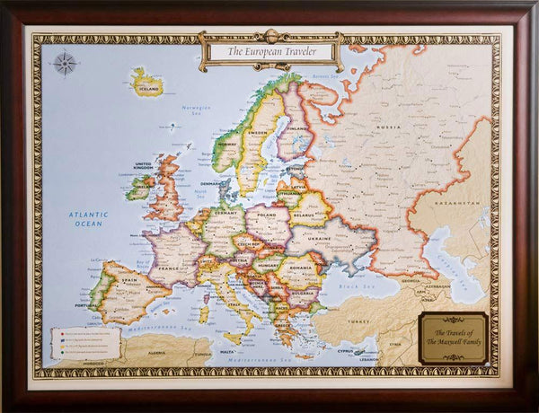 European Travel Quest Map