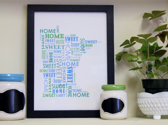 Framed Minnesota Home Sweet Home Print