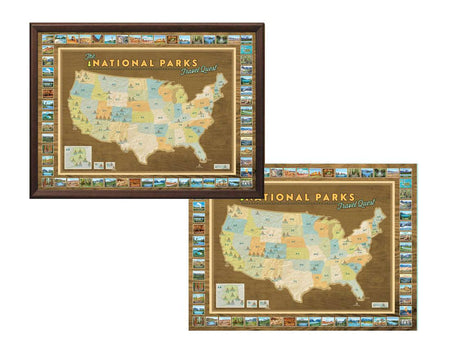 Two Map Bundle: World Travel Quest Map & U.S. Travel Quest Map