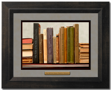 Framed Personalized Library Print