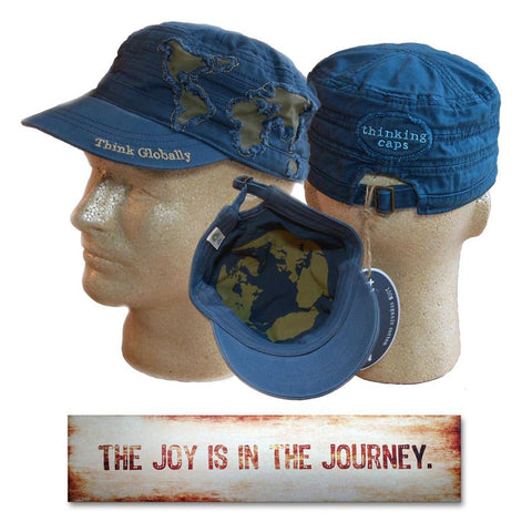 Joy is in the Journey Plaque and Think Globally Hat