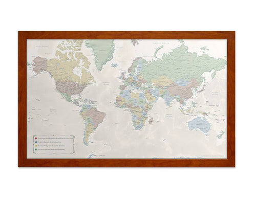 Office-Sized World Travel Quest Map