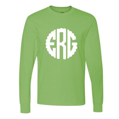 monogrammed long sleeve shirt