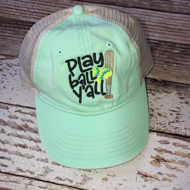 Play Ball Y'all Softball Hat