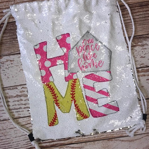 Personalized Softball Sequin Backpack