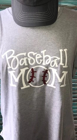 Baseball Mom Glitter Tank Top