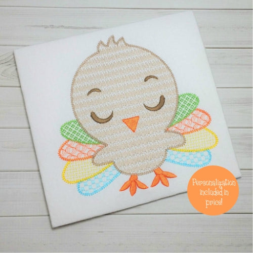 Personalized Boy's Thanksgiving Turkey Shirt