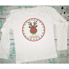 Personalized Boy's Reindeer Shirt