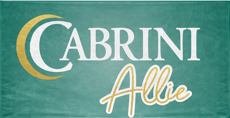 Personalized Cabrini Beach Towel
