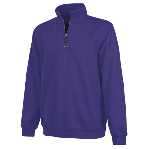 Charles River Adult Crosswind Quarter Zip Sweatshirt With MARDI GRAS Embroidered Monogram