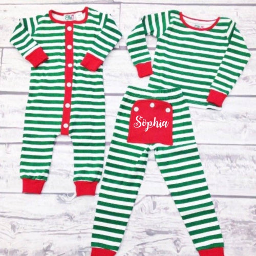 Personalized Toddler Holly Jolly Pajamas
