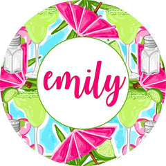 "Personalized 60"" Round Beach Towel-Margaritas"