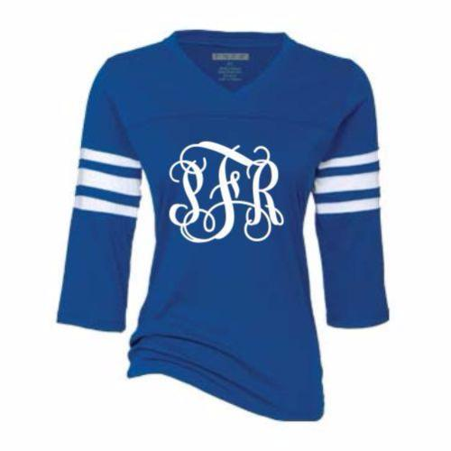 Preppy Monogram GLITTER Spirit Jersey-Pick Your Colors!