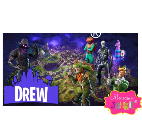 personalized fortnite beach towel