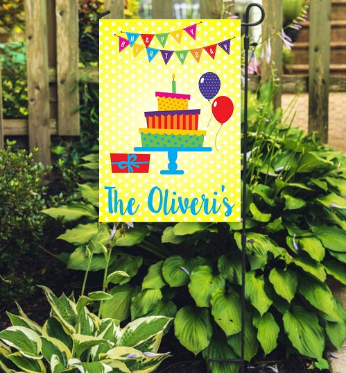 Personalized Birthday Garden Flag