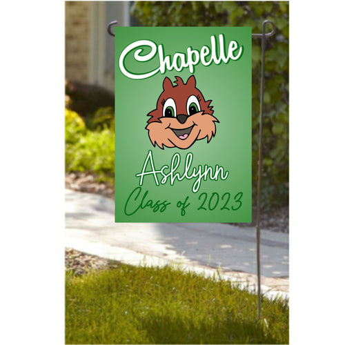 Personalized Chapelle Garden Flag