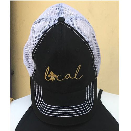 "Black and Gold ""Local"" Nola Trucker Hat"