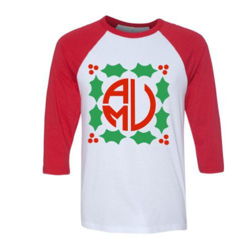 Ladies Monogrammed Holly Raglan Shirt