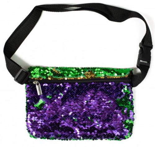Sequin Mardi Gras Fanny Pack **In Stock**